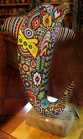 Magnificent Huichol Indian art is found in many Old Town galleries and gift stores